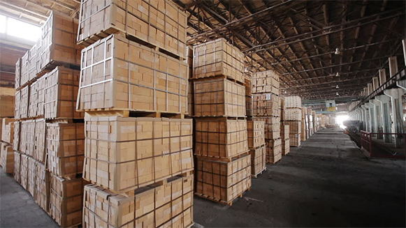 crates of bricks